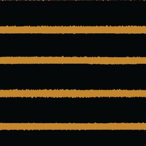 Wide Jagged Stripes Black_GOld