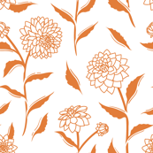 Autumn Dahlias - White&Gold