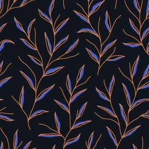 Autumn Leaves - Black&Blue&Gold