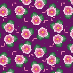 pink floral purple
