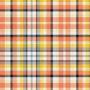 Coral and Goldenrod Plaid