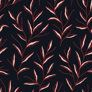 Autumn Leaves - Black&Red&Pink