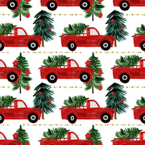 Christmas truck red coordinate
