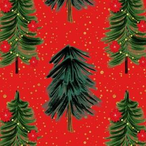 Red Christmas Trees Coordinates