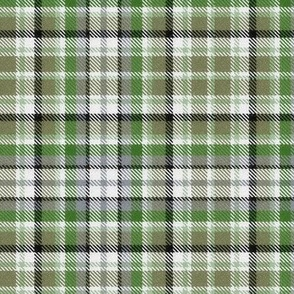 Muted Green and Gray Plaid