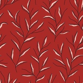 Autumn Leaves - Red&Black&Pink