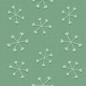 Simple Snow in Aquamarine