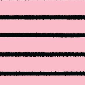 Wide Jagged Stripes Pink_Black