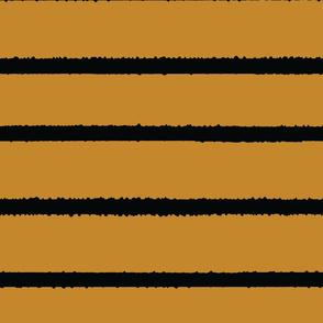 Wide Jagged Stripes Gold_Black
