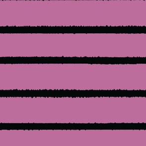 Wide Jagged Stripes Lavendar_Black