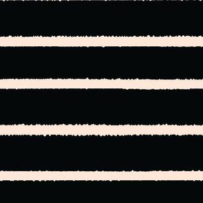 Wide Jagged Stripes Black_Nude