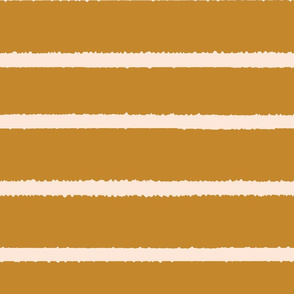 Wide Jagged Stripes Gold_Nude