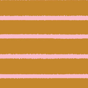 Wide Jagged Stripes Gold_Pink