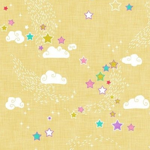 Stars Coordinate (candy lemon) MED