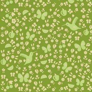 ditsy pollinators (olive)