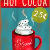 hot-cocoa Tea Towel
