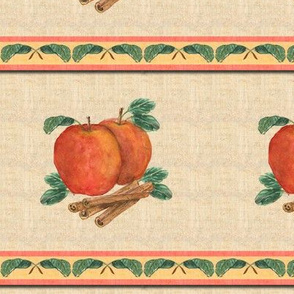 Apple Cinnamon Watercolor Stripe