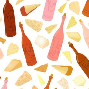 Wine and cheese (light background)