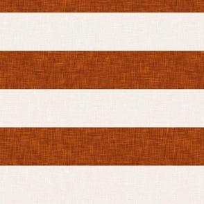 stripes - brick and cream - LAD19