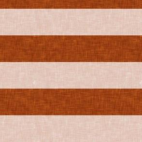 stripes - brick and blush - LAD19
