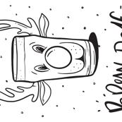 Holiday Brew-Dolf Tea Towel