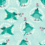 Folk birds and blooms
