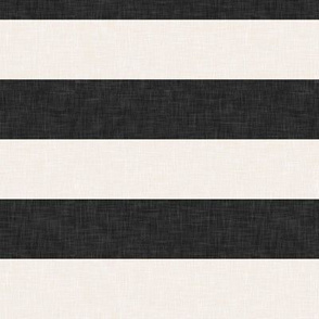 stripes - soft black and cream - LAD19
