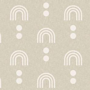 aria - geometric rainbow - beige - LAD19