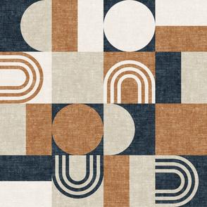 aria geometric patchwork (prussian) - LAD19