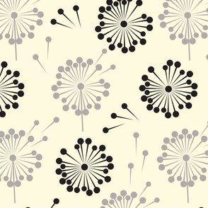 MCM Dandelions I Black Gray