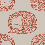 Sleeping Papercut Fox