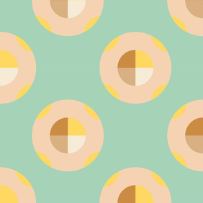 Sunny Side Dots Green