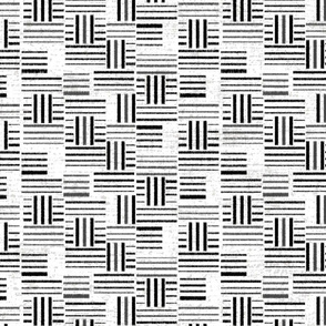 Black and White Global Woven Geo
