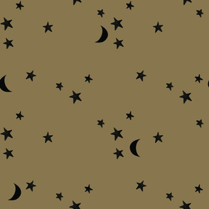 stars and moons 871 black