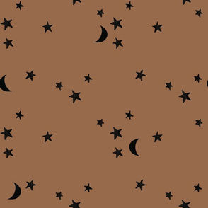 stars and moons 876 black
