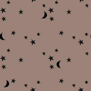 stars and moons 8020 black