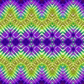 Lime Green & Purple Wavey Streaks