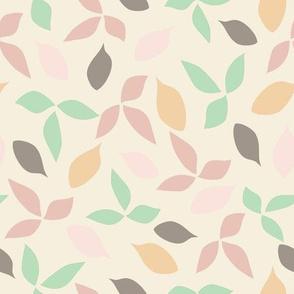 Starfish_cream_leaves_stock