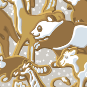 Gingerbread Animal Parade | Large | Light Silver Gray