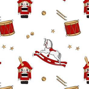 Nutcracker, drum, horse Christmas