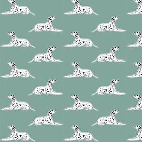 "resting dalmatians on robins egg - 4"""