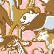 Gingerbread Animal Parade | Large | Pink
