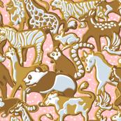 Gingerbread Animal Parade | Pink