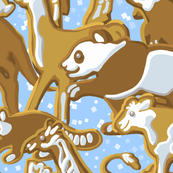 Gingerbread Animal Parade | Large | Light Blue