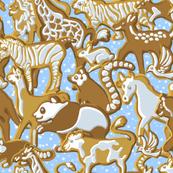 Gingerbread Animal Parade | Light Blue