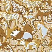Gingerbread Animal Parade | Warm Cream