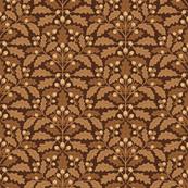 Oak leaves brown