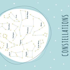 Constellations Tea Towel