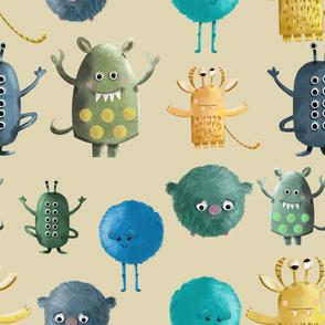 Monsters_Pattern_Fond_Beige
