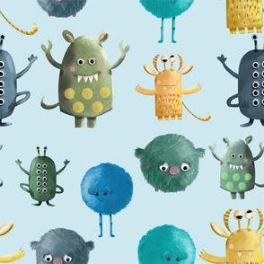 Monsters_Pattern_Fond_Bleu